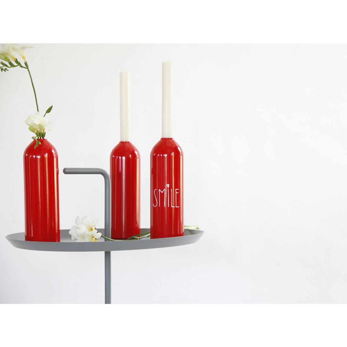 Kerzenhalter/Vase FIRE rot