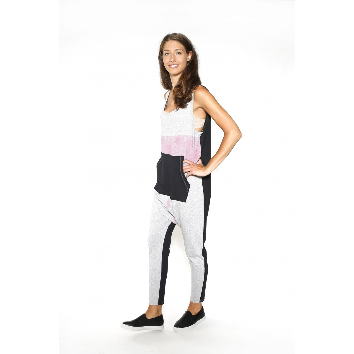 Printed Kangaroo Jumpsuit