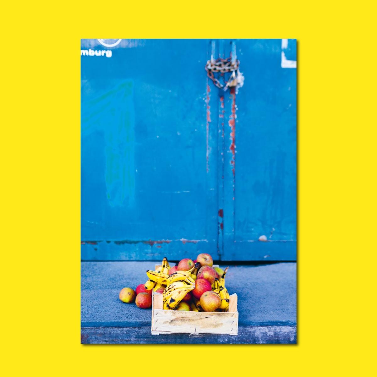 'Äpfel und Bananen' limitierter Fotodruck auf Naturpapier, DIN A2, klimaneutral gedruckt / Ankerwechsel Verlag