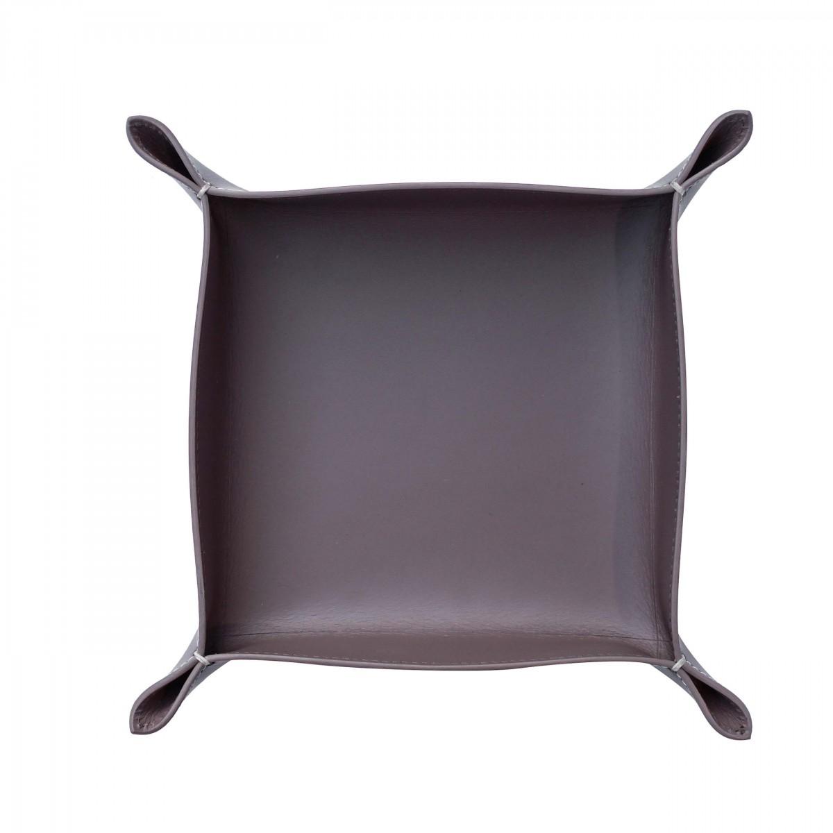 adorist - Lederablage, Taschenleerer Corium 20x20cm, taupe