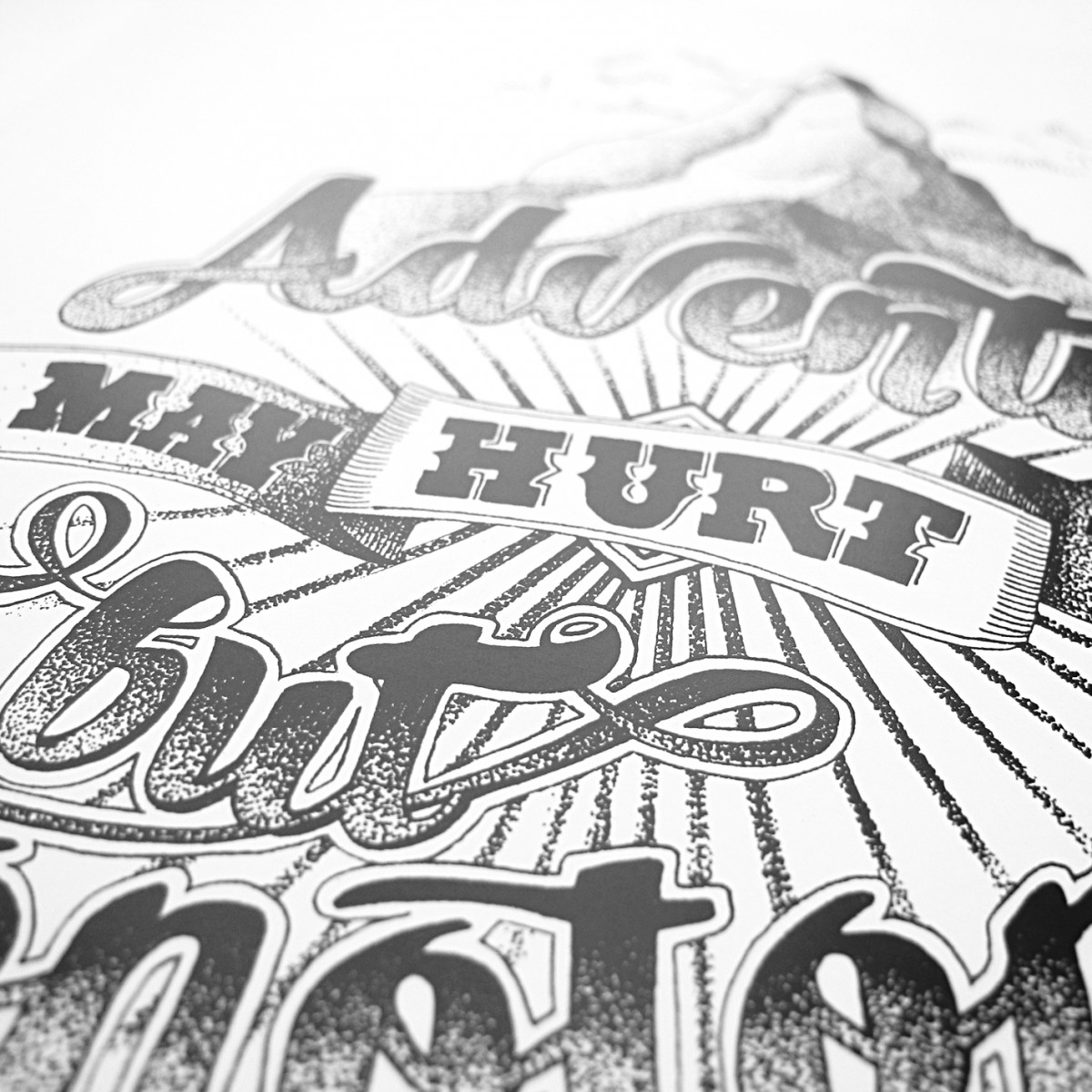 The True Type Handlettering Kartenset »Motto Cards« DIN A5 Klappkarten, illustriert