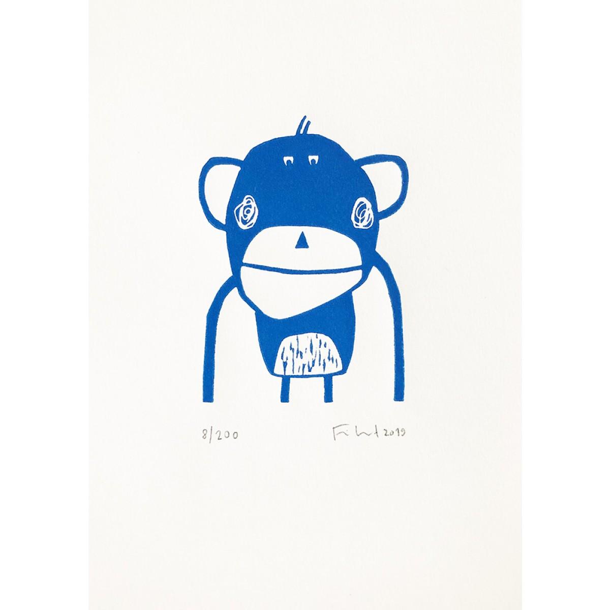 Affe | Linolschnitt