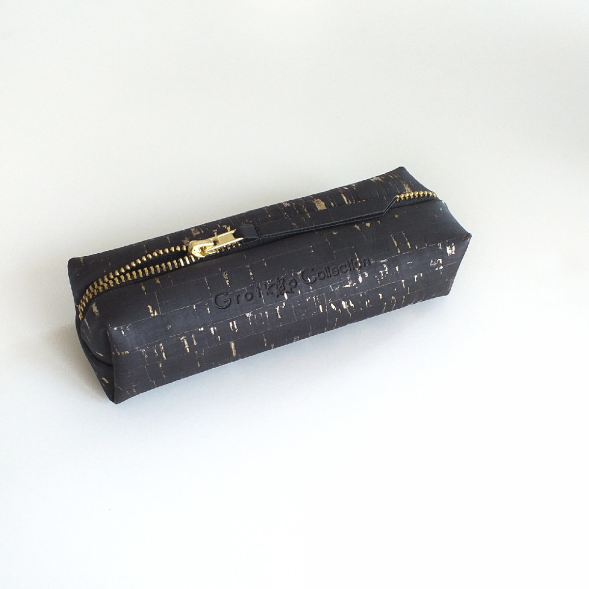 Grotkop Collection Kosmetiktasche AIR Kork schwarz/gold