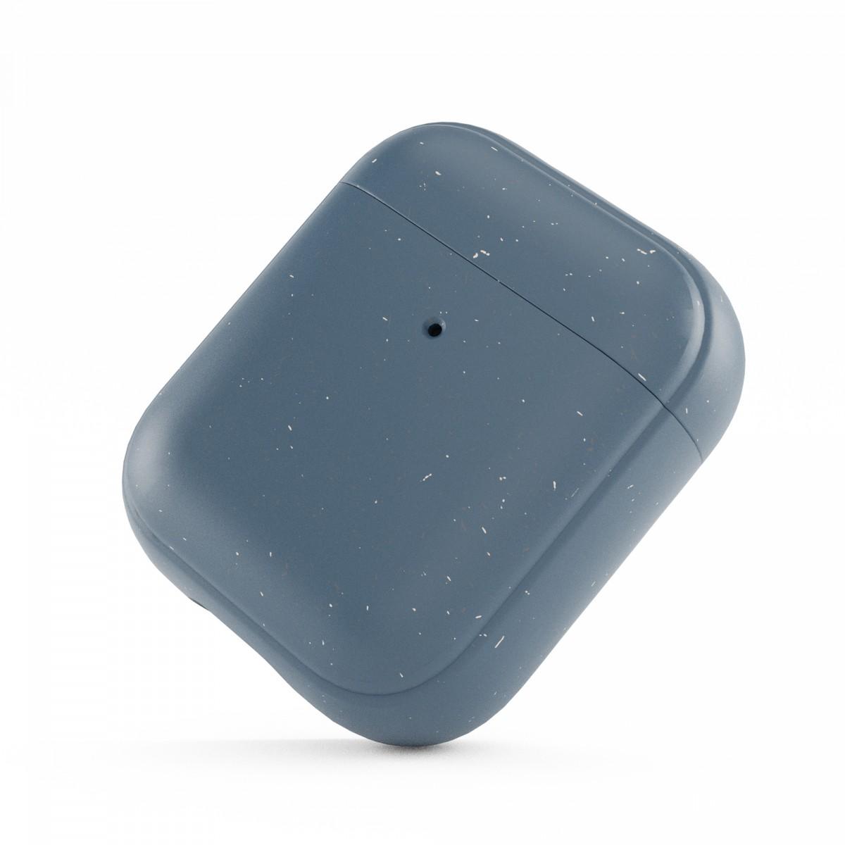 Woodcessoires – Nachhaltiges AirPod Case aus Bio-Material für AirPods 1 / 2 / Pro (navy blau)