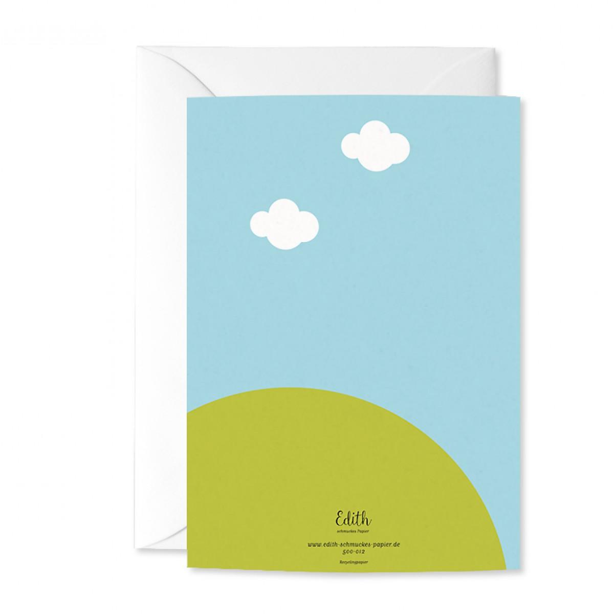 """Edith schmuckes papier """"Alpaka - Geschenk Set"""" 2 Bögen Geschenkpapier und 1 Grußkarte mit Briefumschlag"""