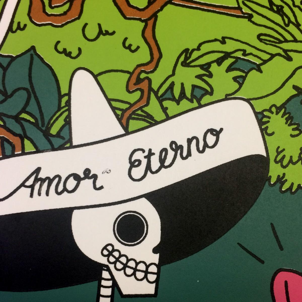Print now - Riot later ● Amor Eterno Siebdruck