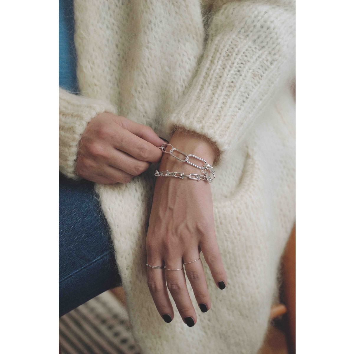 iloveblossom BIG PAPERCLIP Armband