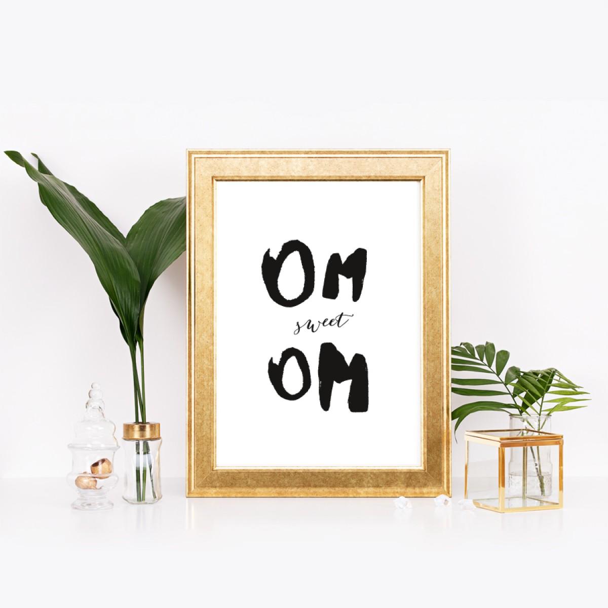 """Amy & Kurt Berlin A3 Artprint """"Om sweet Om"""""""