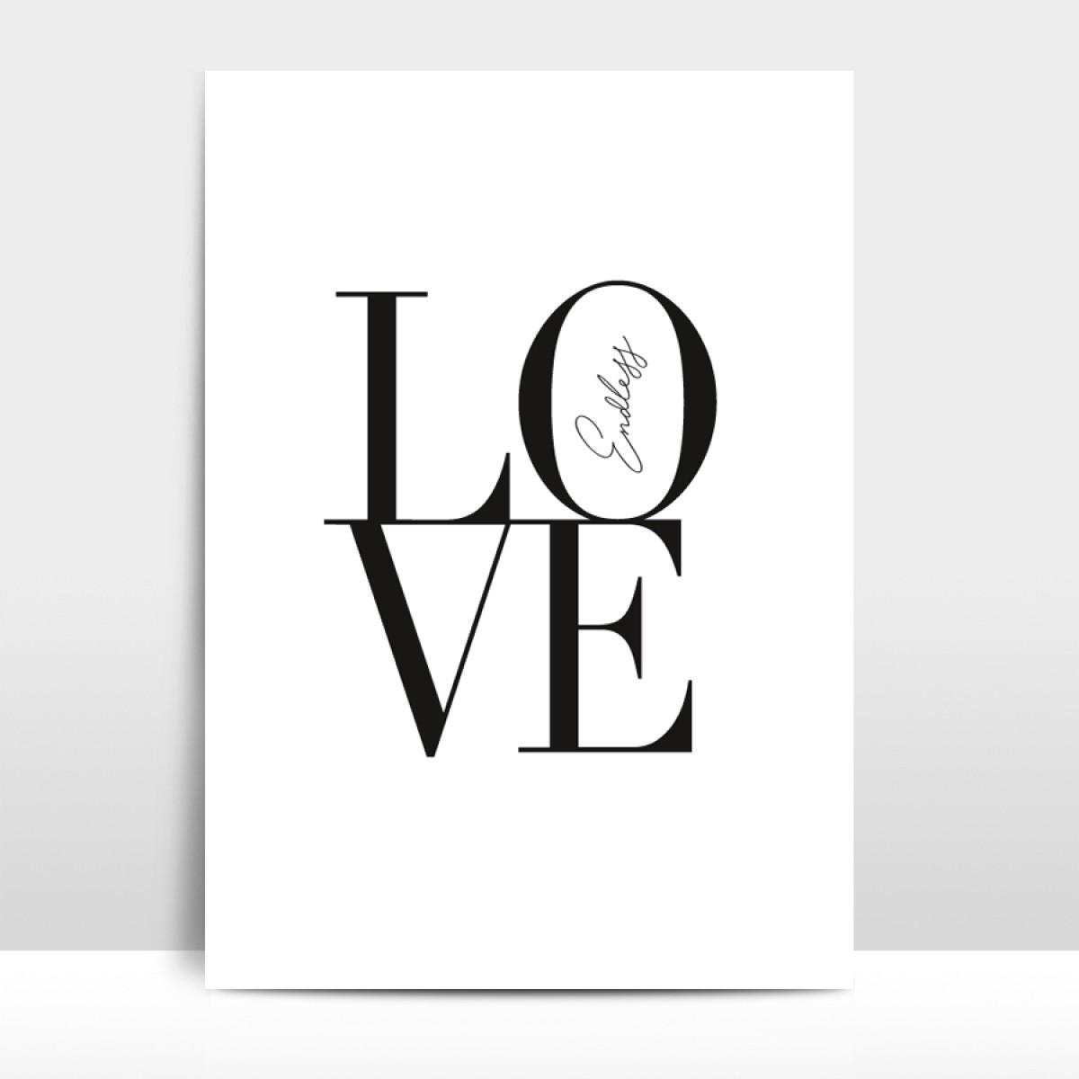 """Amy & Kurt Berlin A4 Artprint """"Endless Love"""""""