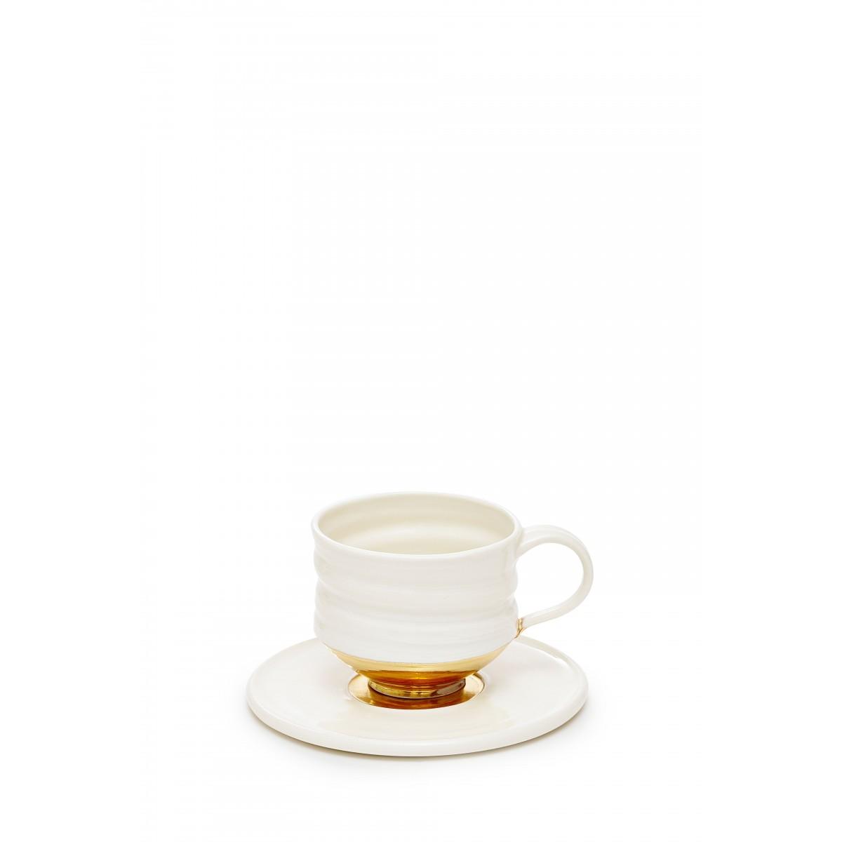 Annika Schüler - porcelain Porzellantasse, Unterteller (gold)