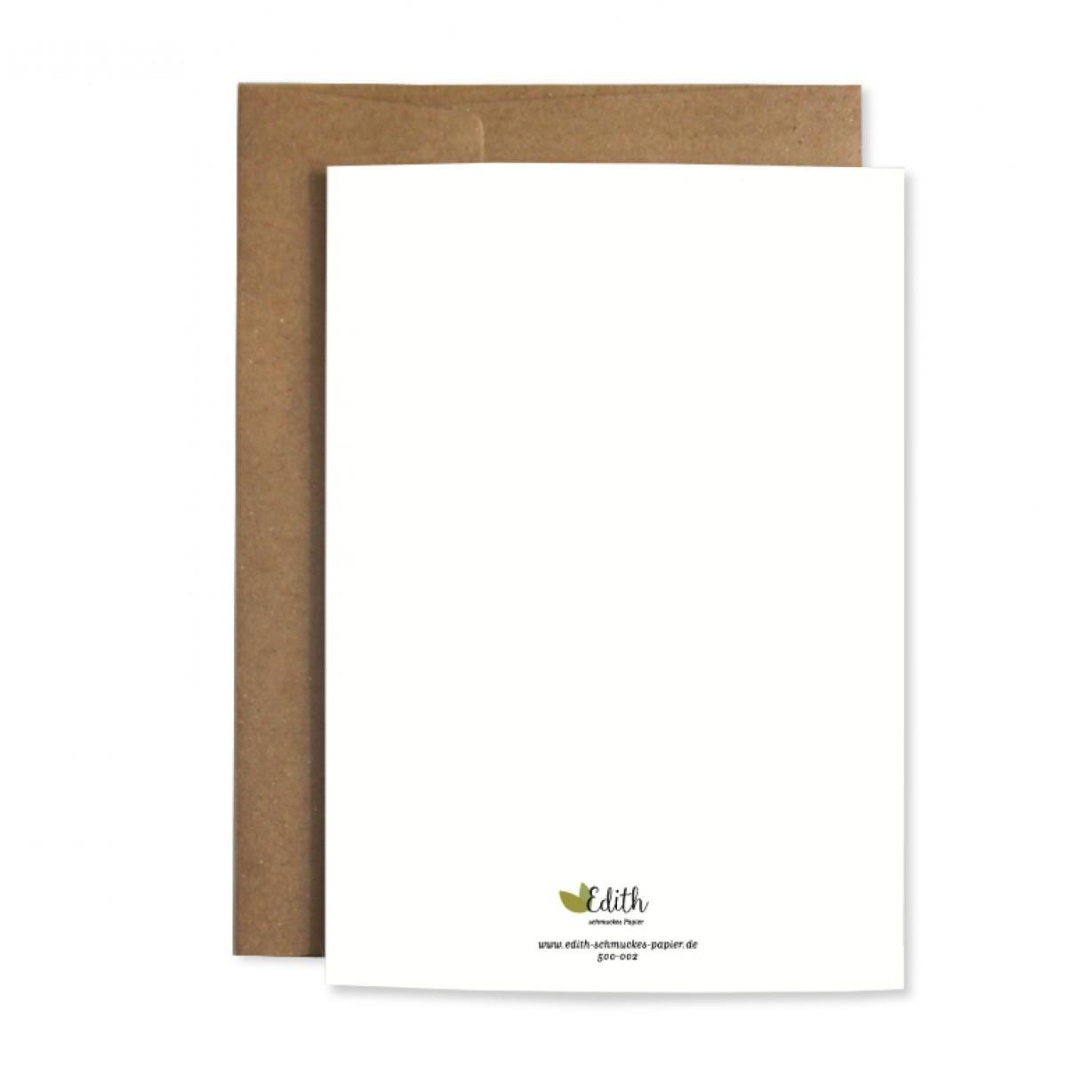 "Edith schmuckes Papier ""Avocado"" Grußkarte"
