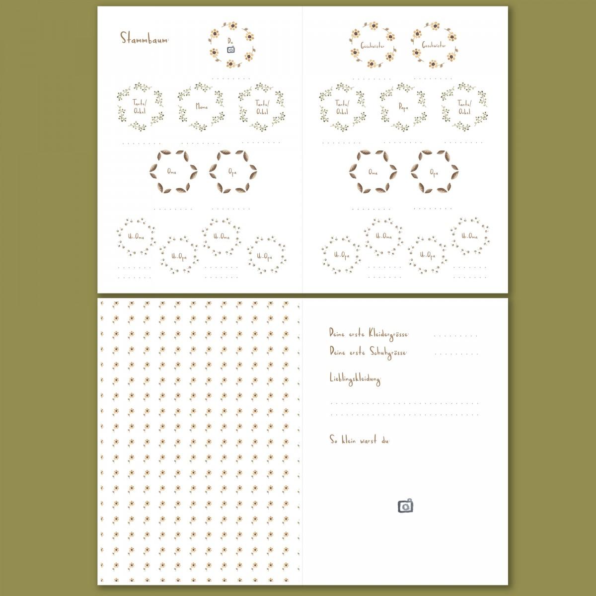 Babybuch - Mein erstes Jahr - Blumen gelb - Elliet