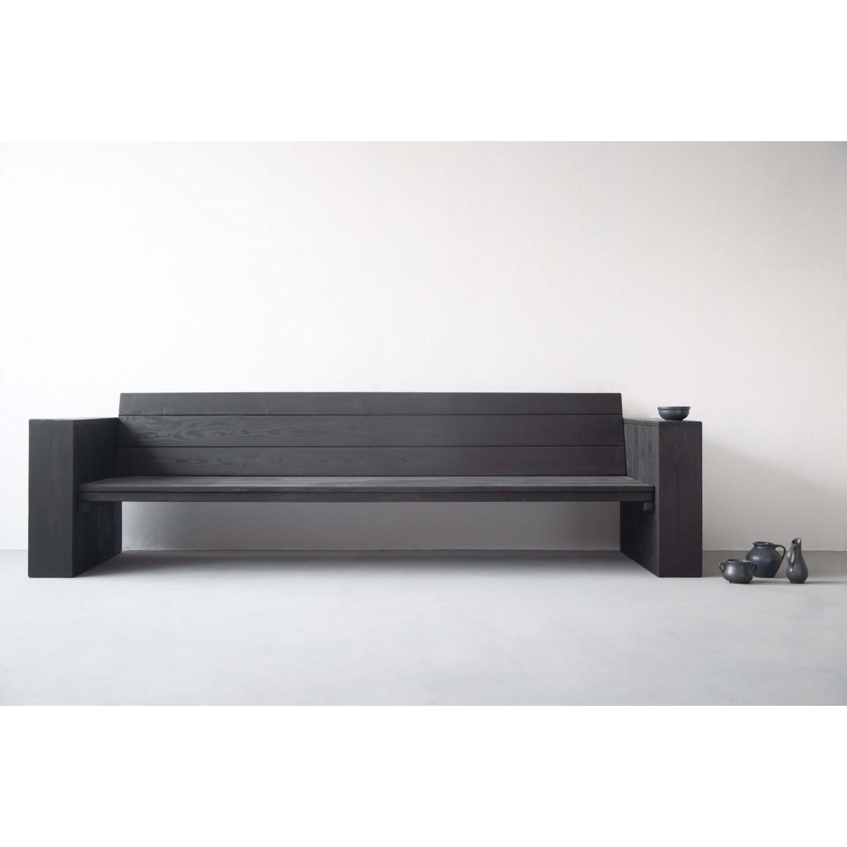 FraaiBerlin – Bank Landhaus Stil & Eisen Jonathan schwarz 250x80x80cm