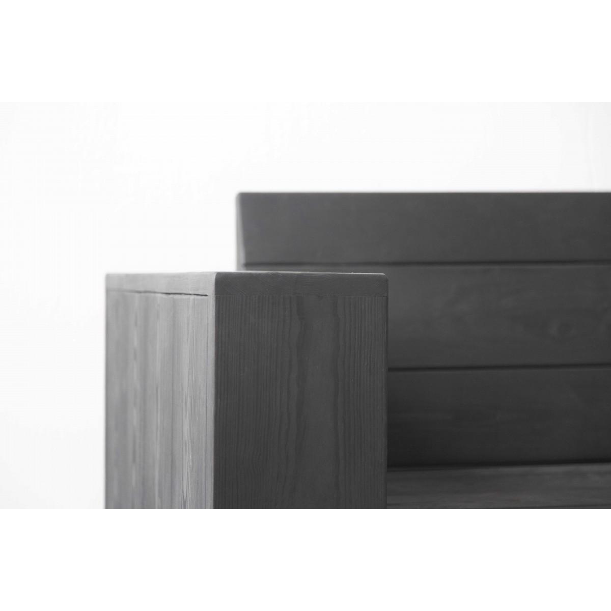 Bank Landhaus Stil & Eisen Jonathan schwarz 250x80x80cm