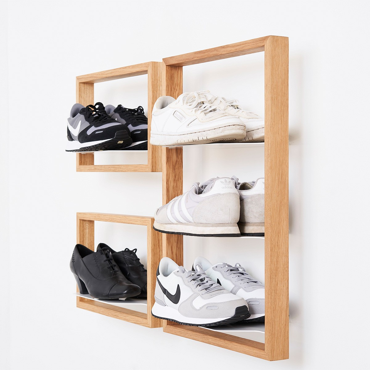 das kleine b schuhregal basti. Black Bedroom Furniture Sets. Home Design Ideas