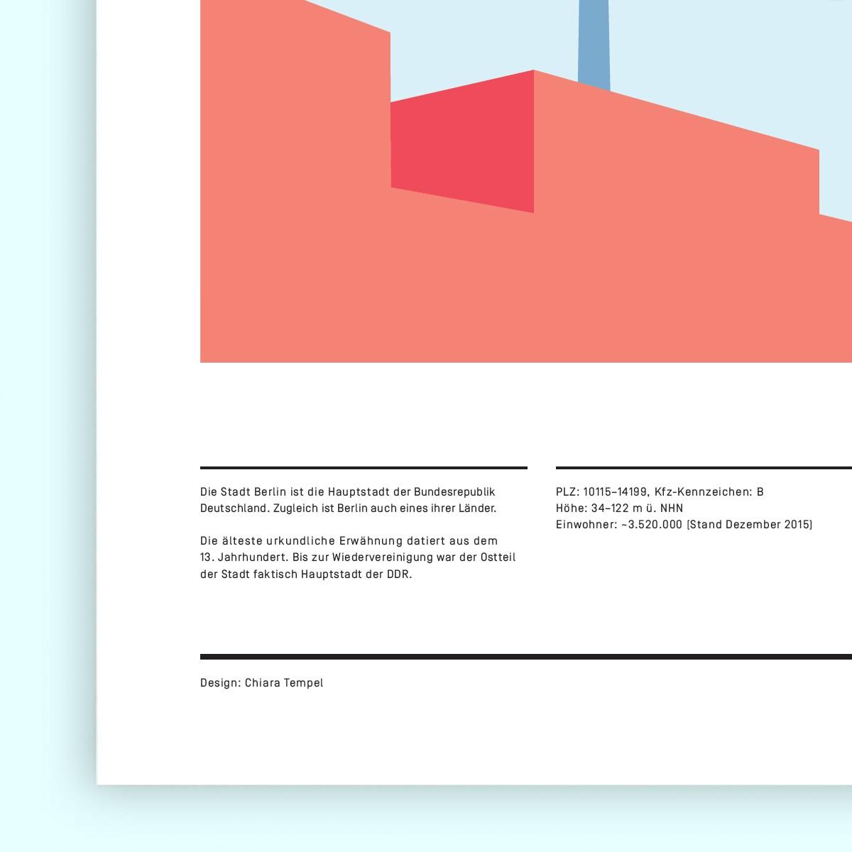 Chiara Tempel – Berlin, du bist so wunderbar – Poster A3 (297x420mm)