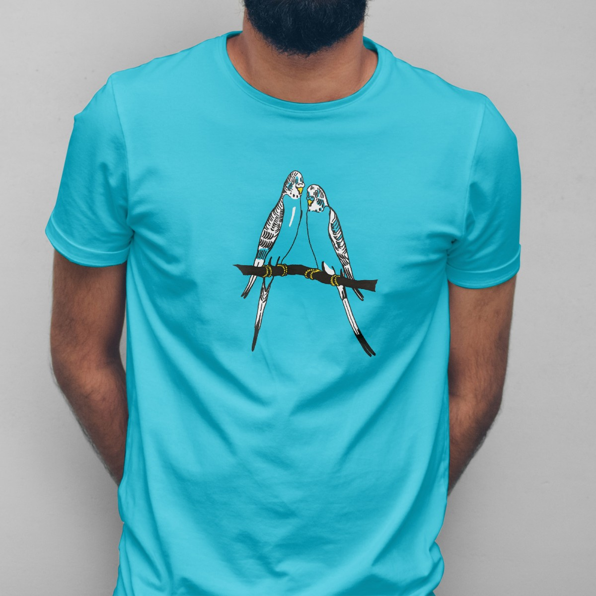 Print now - Riot later ● Budgies Blue T-Shirt