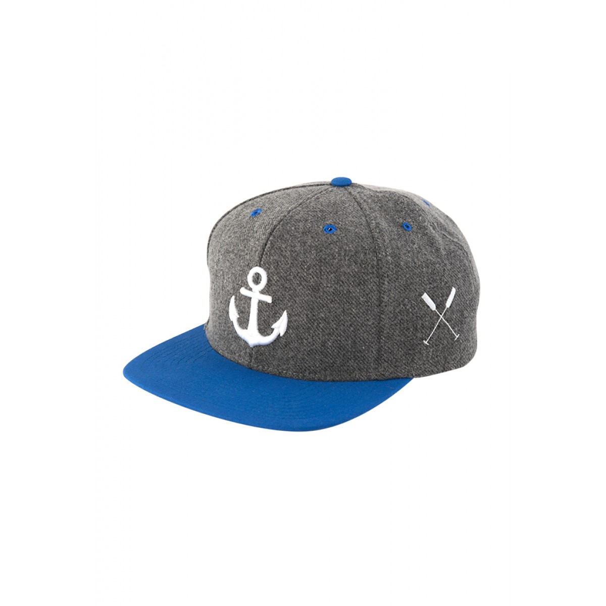 "HOME IS WHERE YOUR HEART IS. – Anker Snapback Cap ""Wonderland"" (dark heather/blue)"
