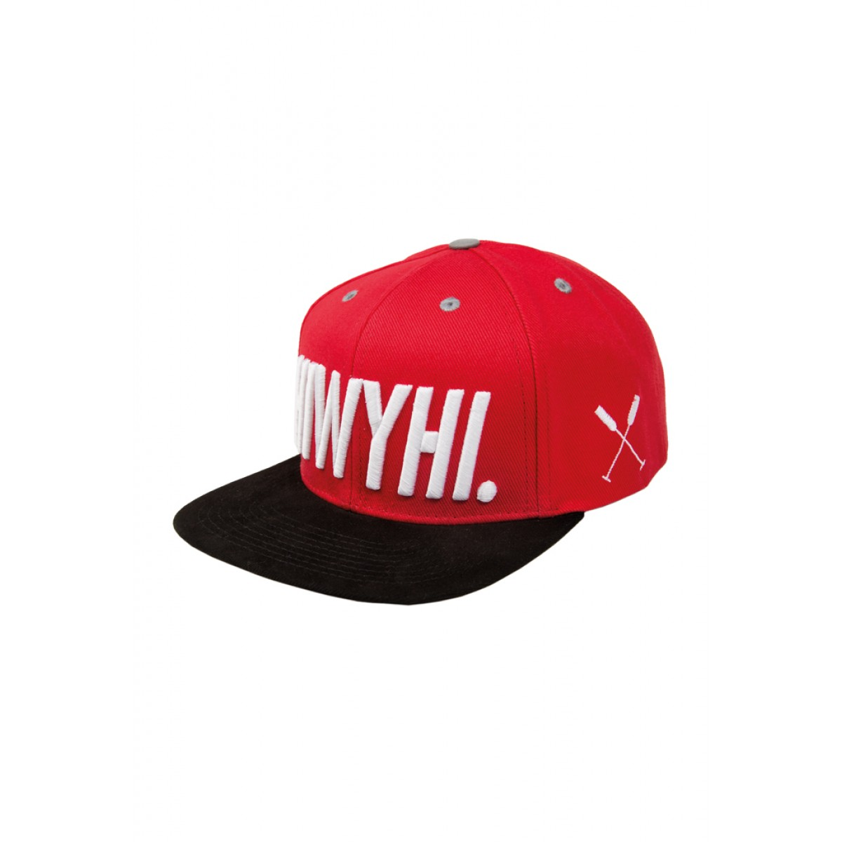 "HOME IS WHERE YOUR HEART IS. – Logo Snapback Cap ""HIWYHI."" (RED/BLACK)"