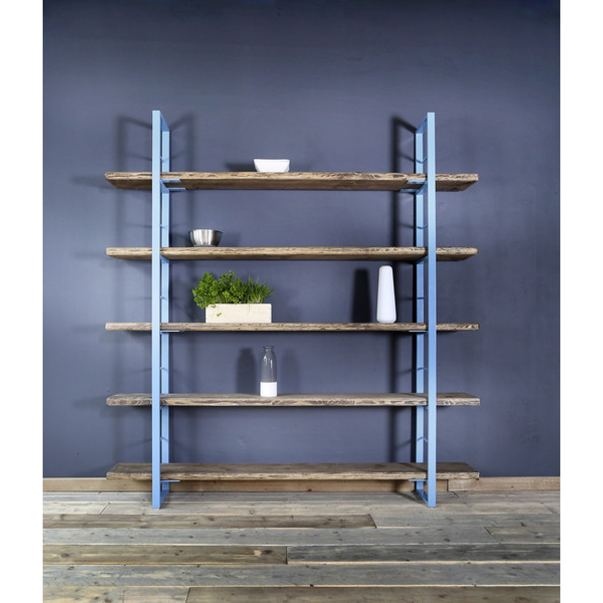 Regal Sinem Bücherstütze 210x170cm Blau | selekkt.com