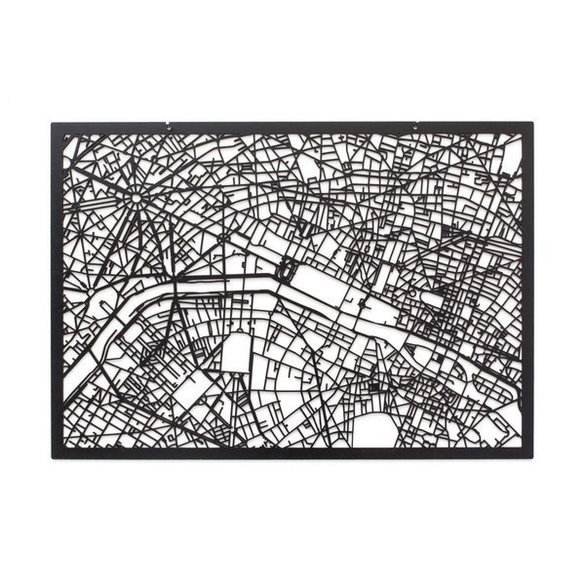 Frau Schneize 3D Stadtplan PARIS