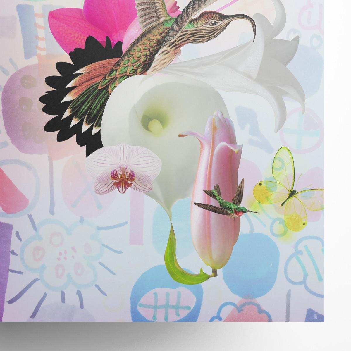 künstlerherz' bildmaschine/Flowers Artist Print DIN A1