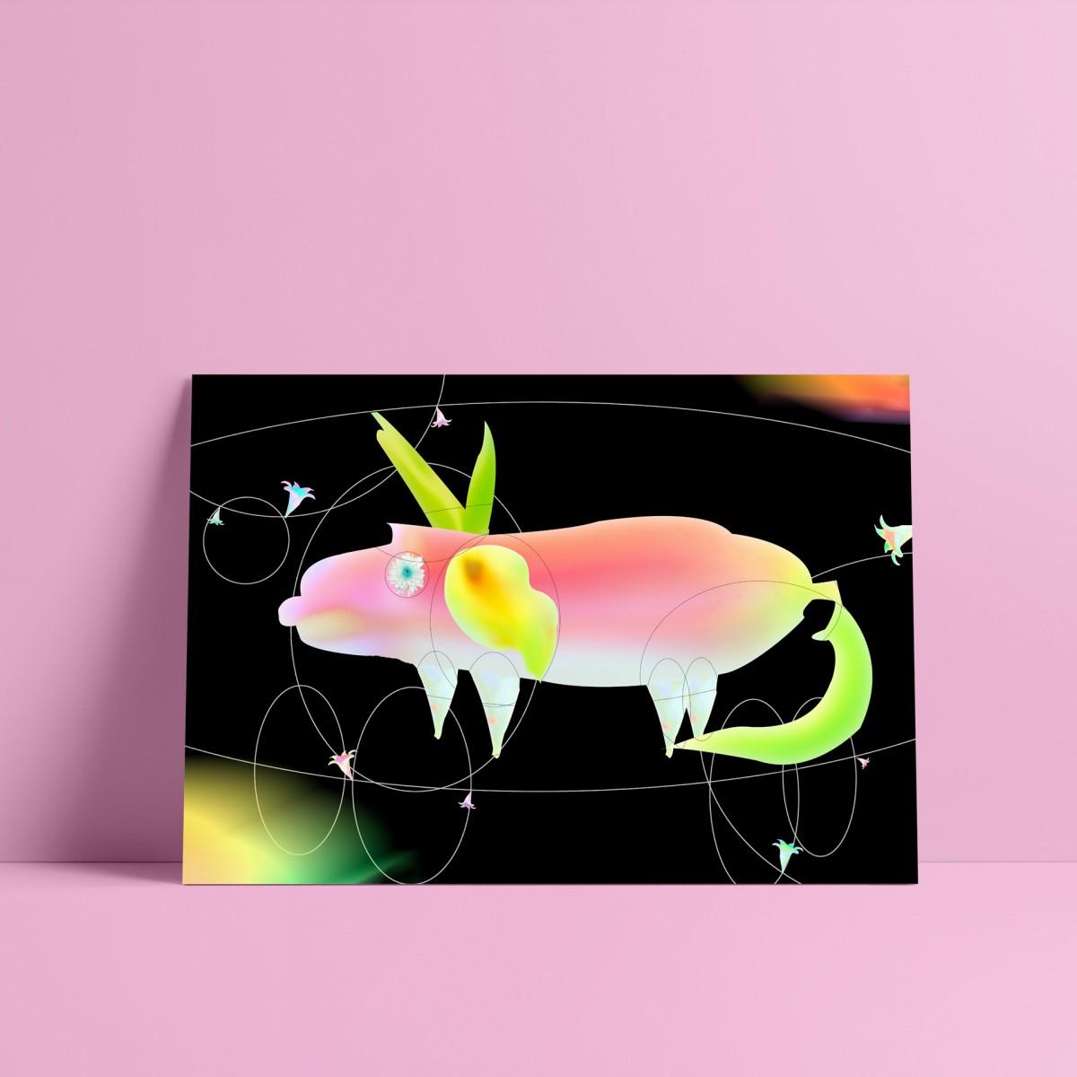 künstlerherz' bildmaschine: ‹Schweini› Artist Print