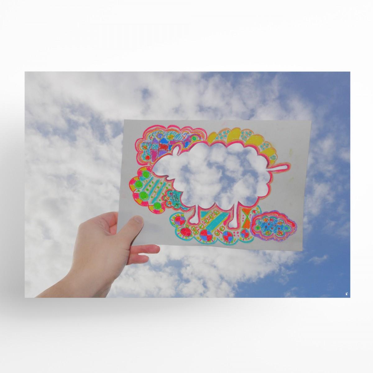 künstlerherz' bildmaschine: ‹Wolkenschaf› Plakat