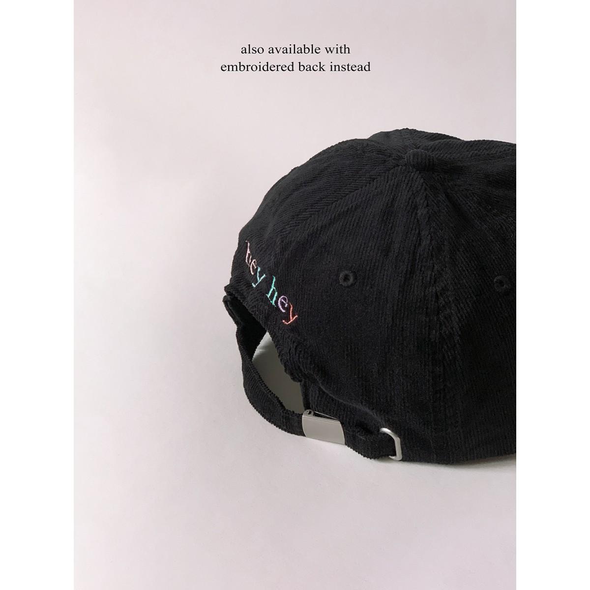 hey hey Rainbow Cap – schwarz (Stick vorne)