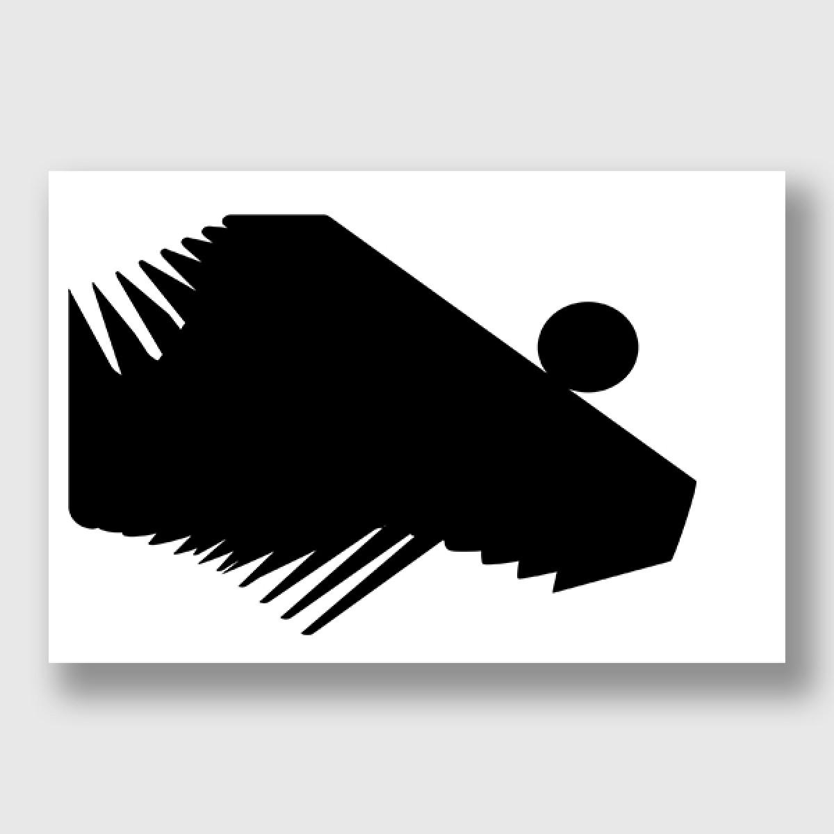 """ZEITLOOPS """"black & forms 01"""", Posterprint 40x60 cm"""