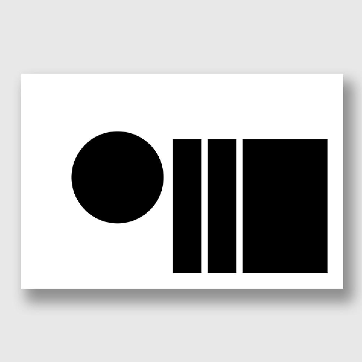 """ZEITLOOPS """"black & forms 02"""", Posterprint"""