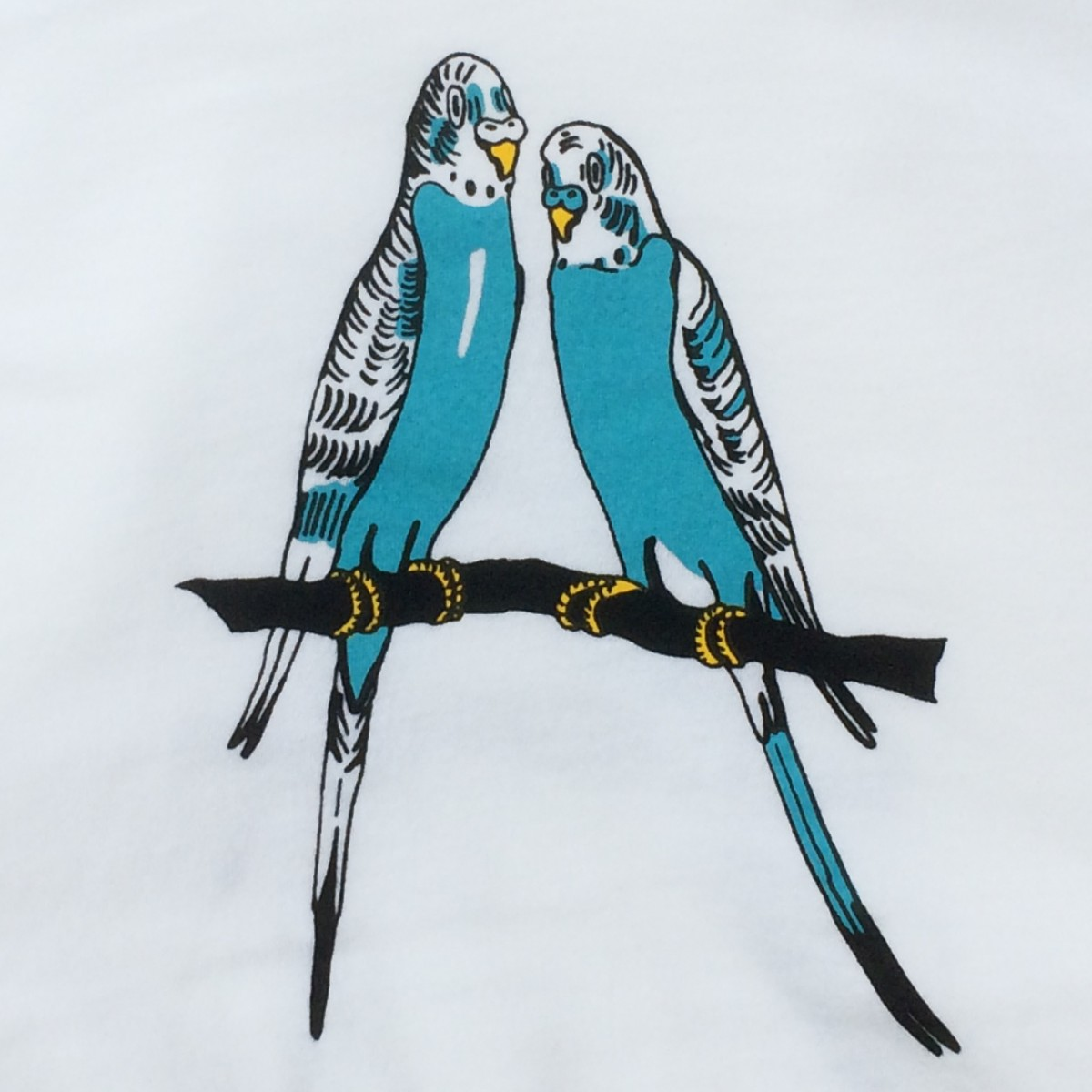 Print now - Riot later ● Budgies White T-Shirt