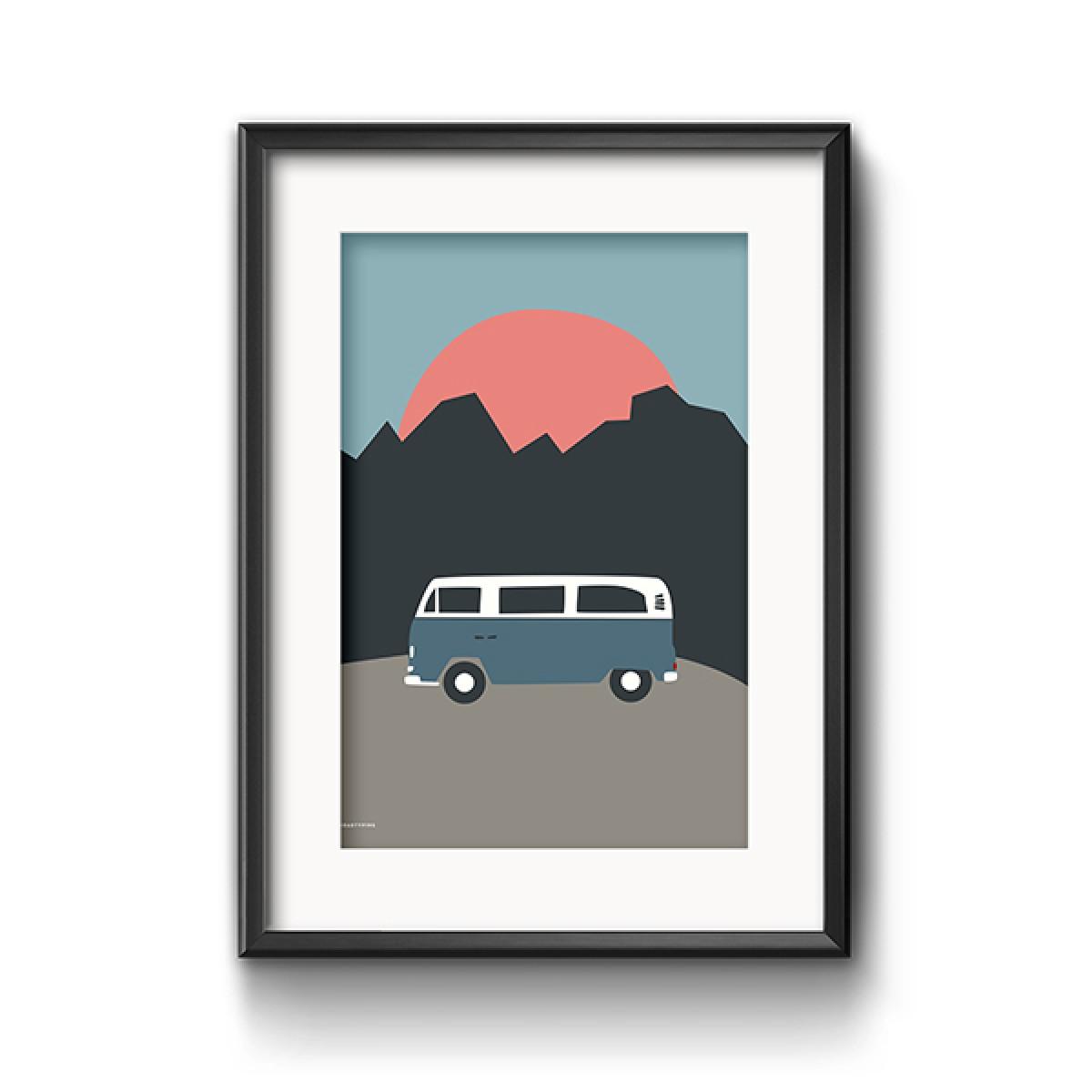 Roadtyping Bulli Print 30x40cm