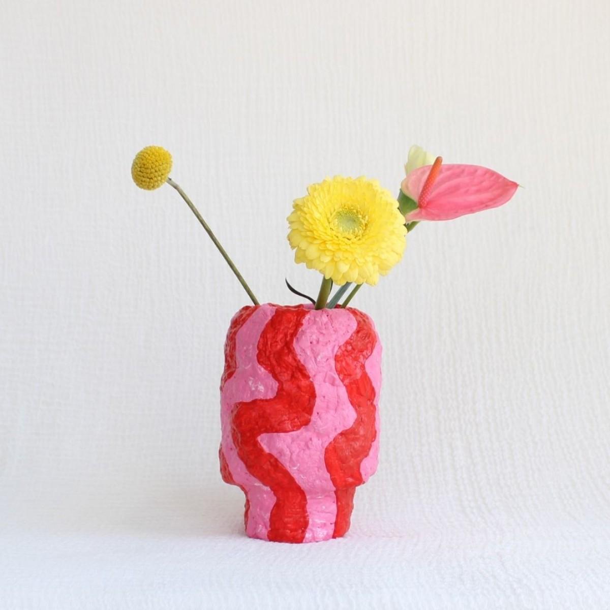 Catchup Studios - nachhaltige Vase - Red Waves Vase