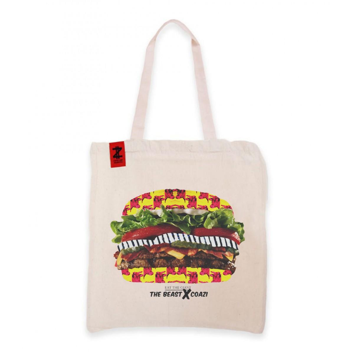 Coazi Giant Burger Jutetasche Beutel