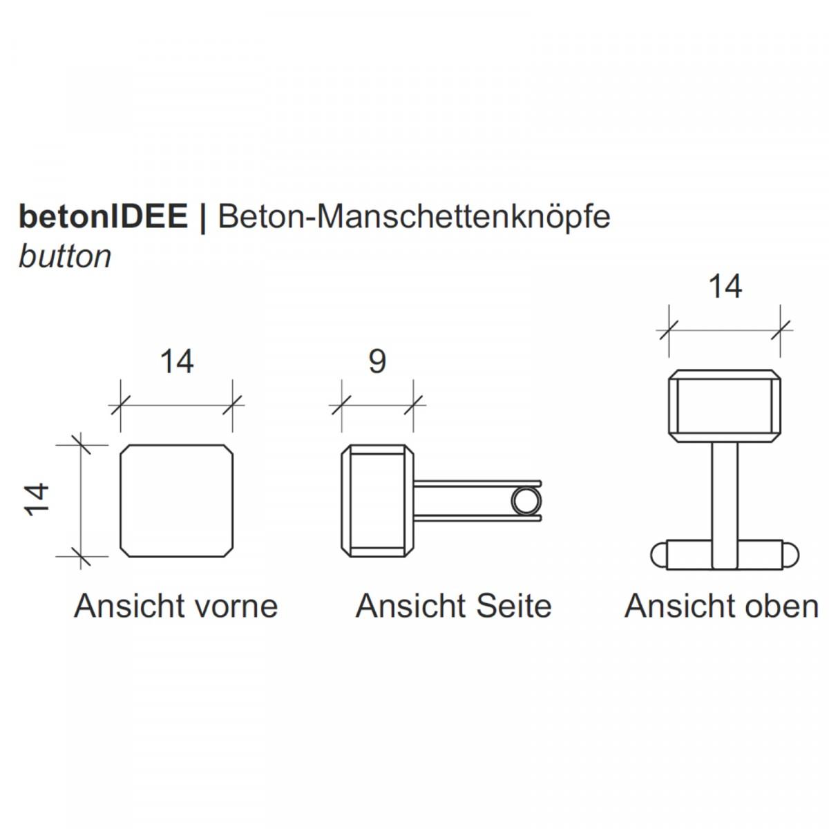 button | Beton-Manschettenknöpfe