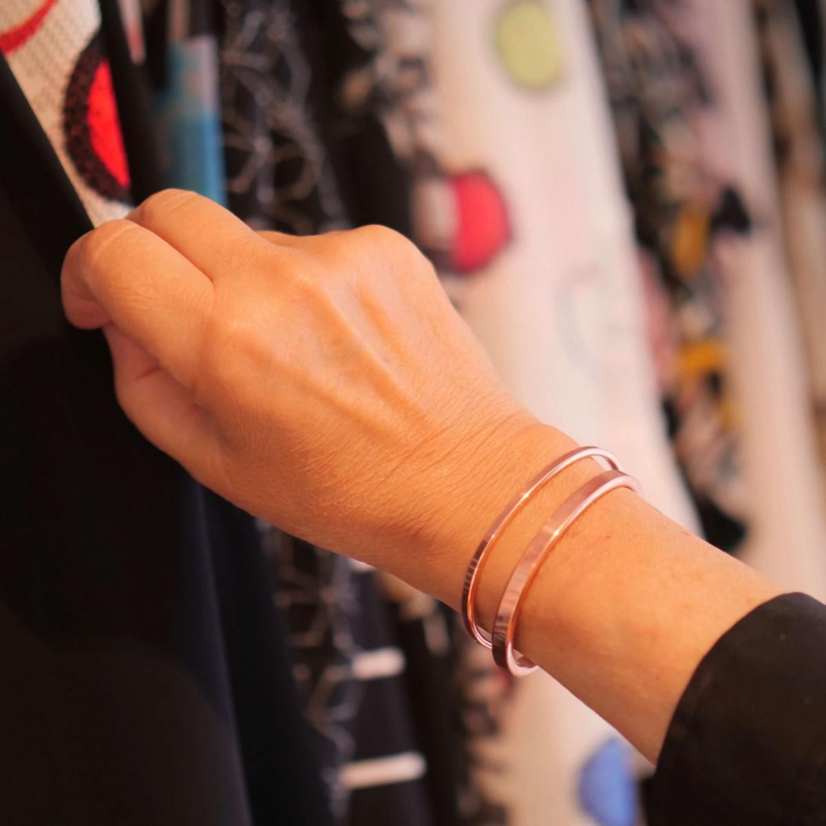 Lois Mathar – Armband massiv Kupfer, schmal, 3,5 mm