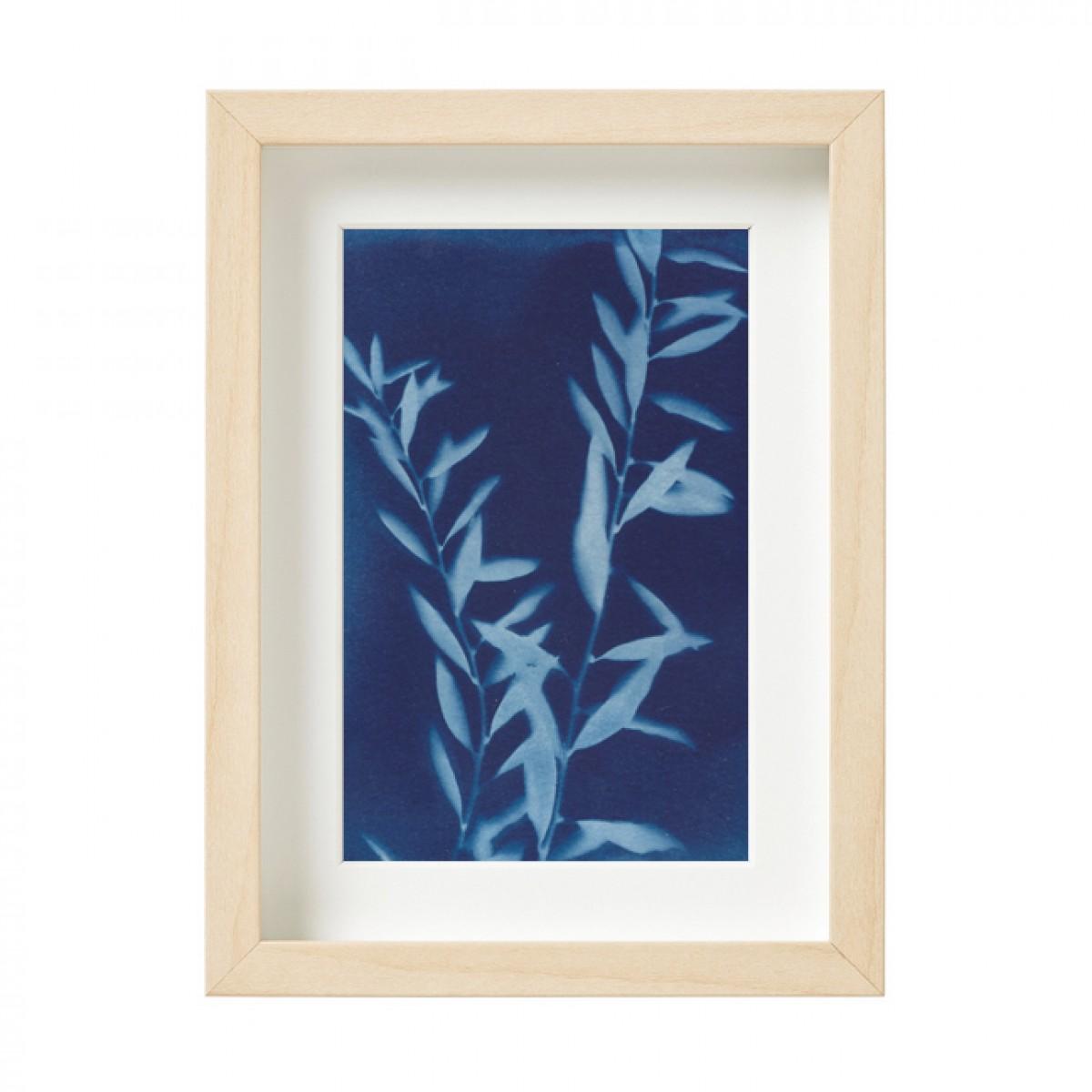 Anka Büchler, Floraler Blaudruck, Cyanotypie, Unikat, A6, gerahmt, Motiv 21