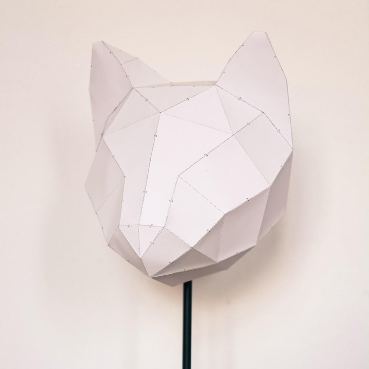 Cat Medium - Do It Yourself Papierlampenschirm