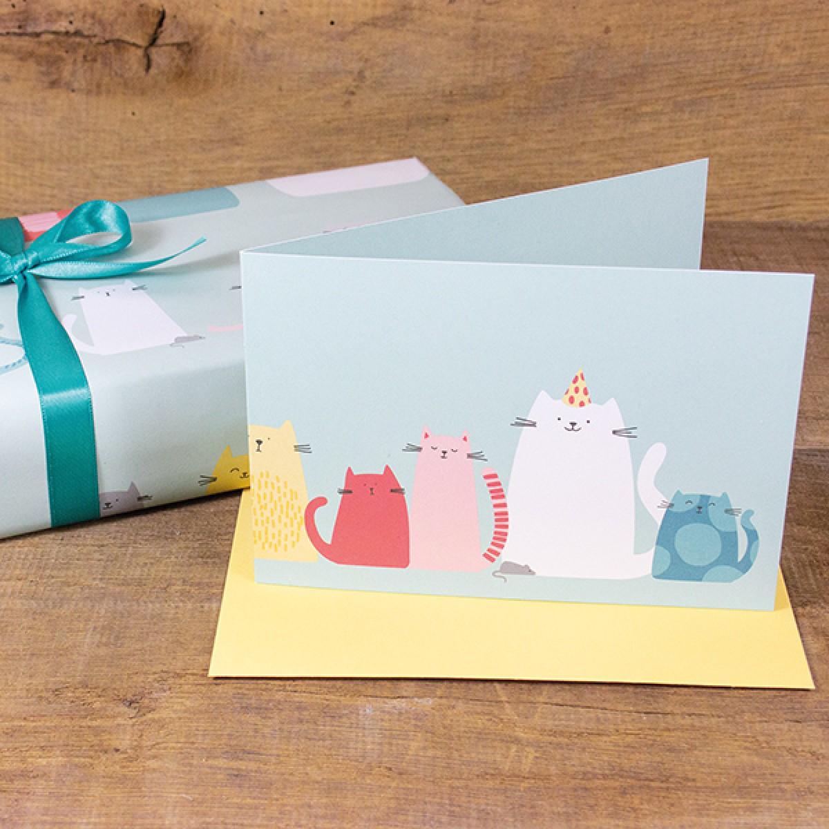 Bow & Hummingbird Geschenkverpackungs-Set Cats