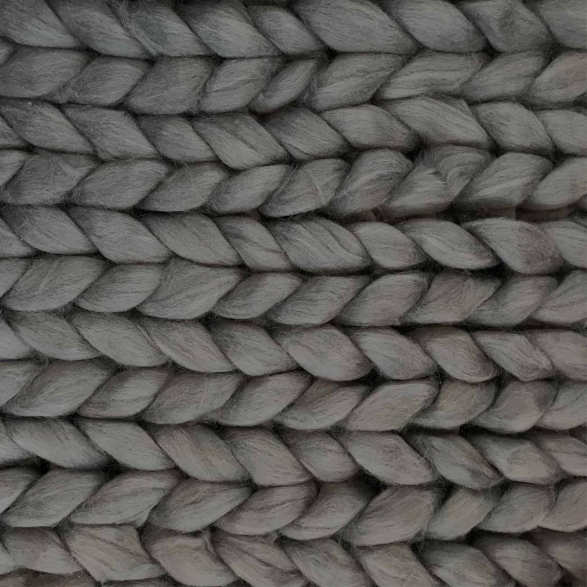 adorist. – Wolldecke Cosima Chunky Knit, grau
