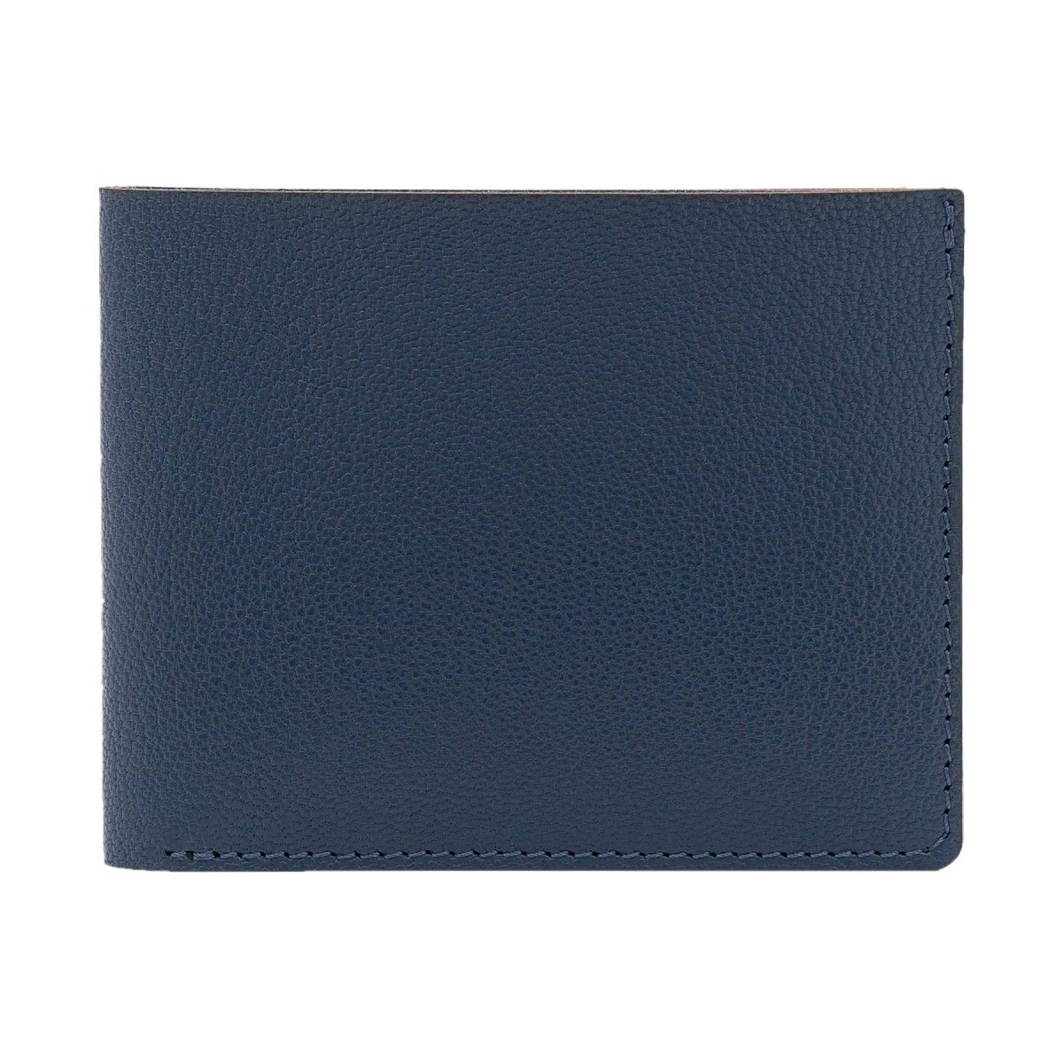 Faltbare Geldbörse in marineblau - aus premium pflanzlich gegerbtem Ziegenleder