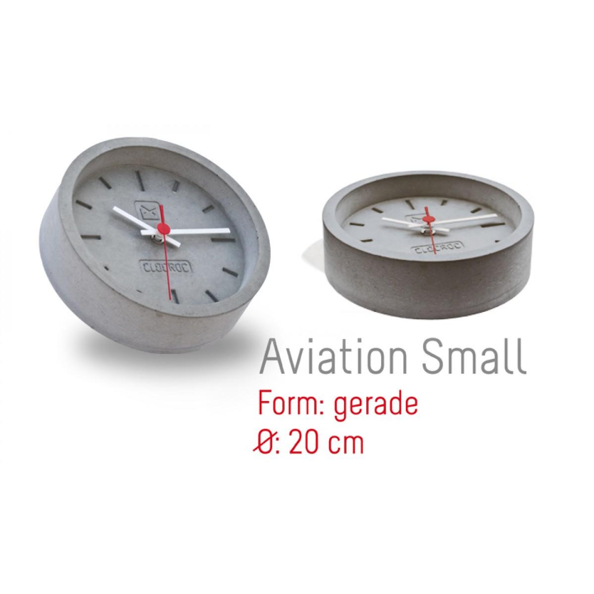 Ambientshop Clocroc Wanduhr aus Beton -  Aviation Small: