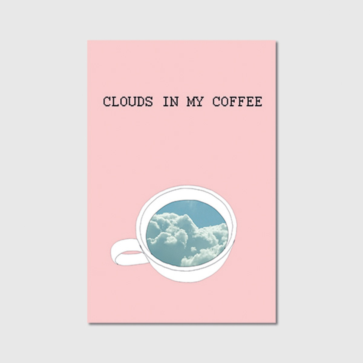 "ZEITLOOPS ""Clouds in my coffee"", Poster ca. A4 / A3"