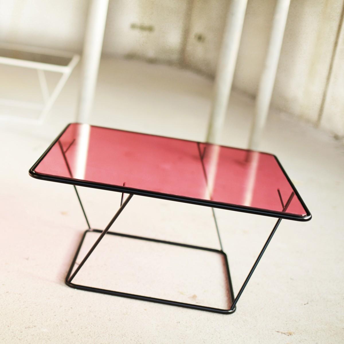 Couchtisch Freebird - mit bunten Glasplatten