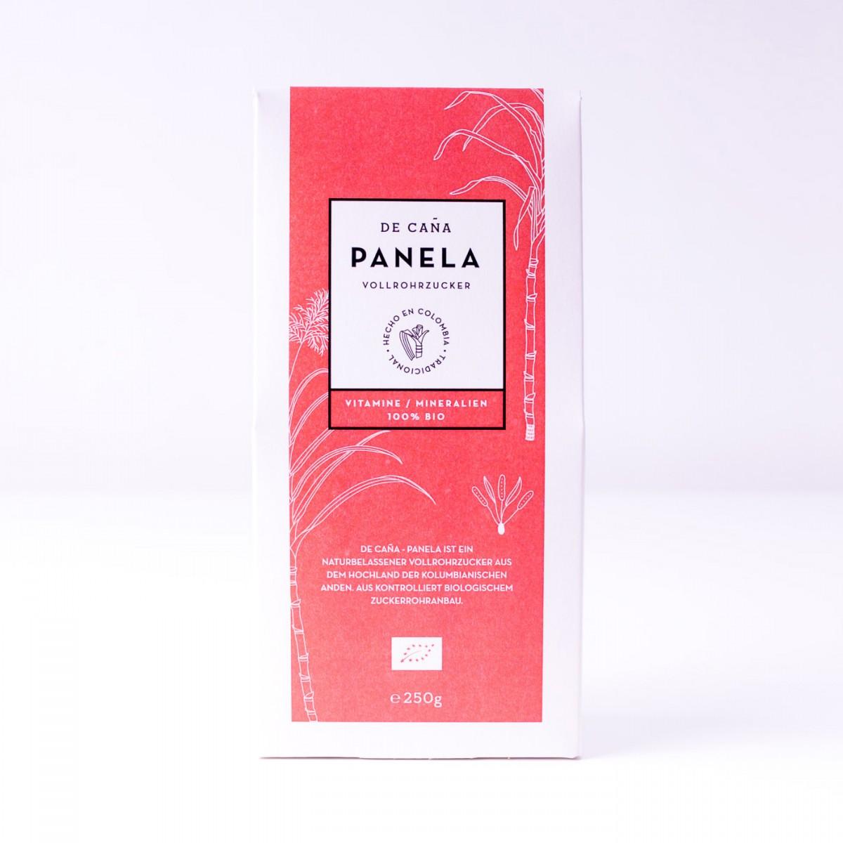 DE CAÑA Panela aus Kolumbien - Der feine Naturzucker/Kaffeezucker, 250g Pack