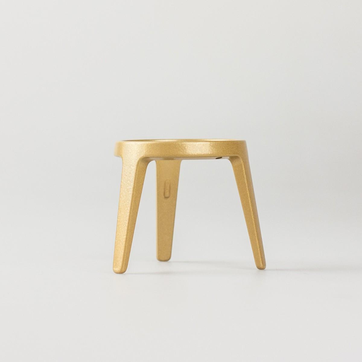 rocket - Design Eierbecher aus Metall (4er Set gold)