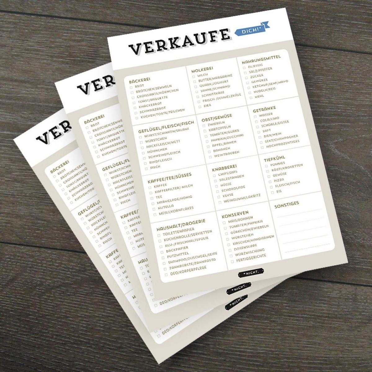 Design Verlag Notizblock – Verkaufe dich! (3er-Set)
