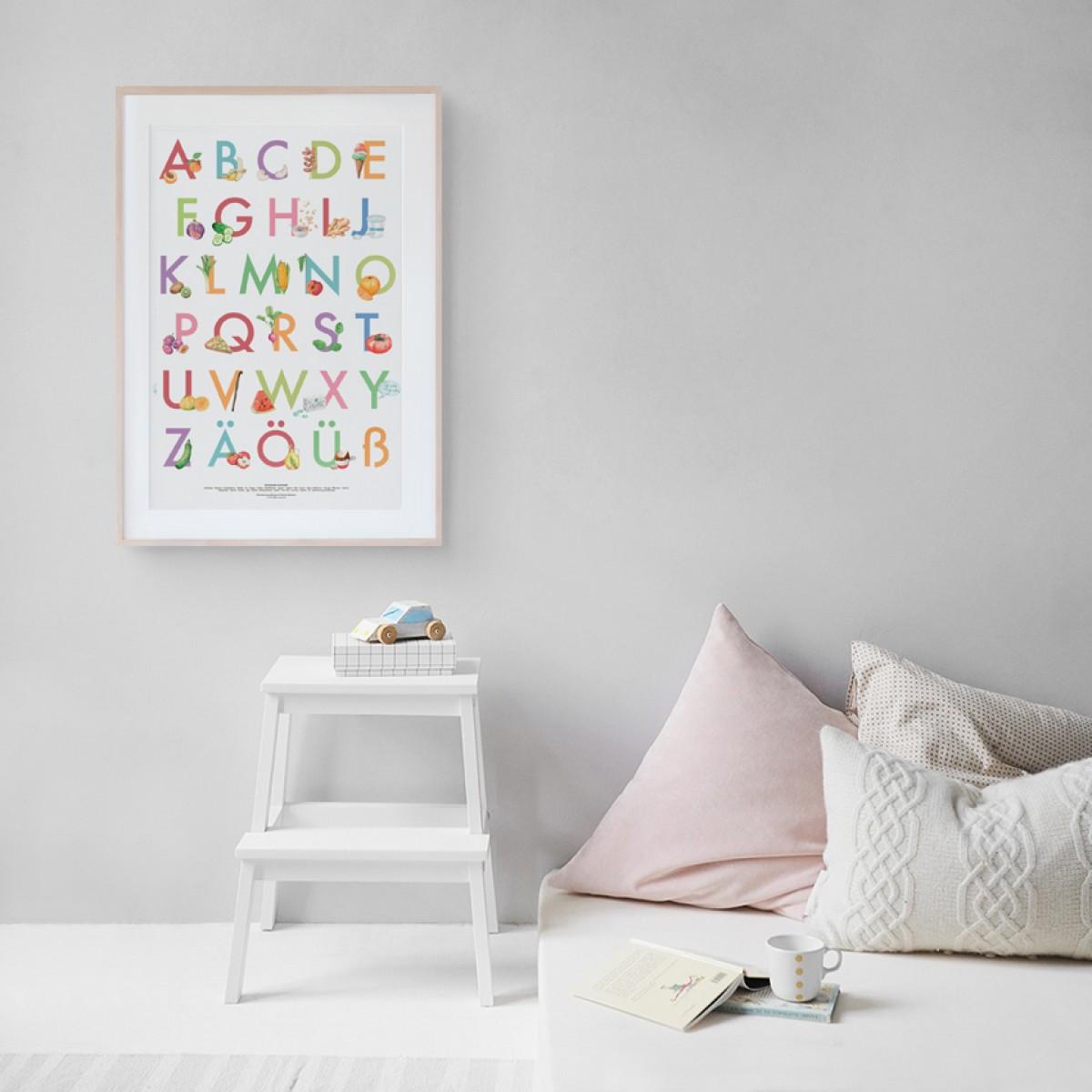 Deutsches Alphabet – Kinder ABC Poster, A2 print / Kamila Sidelnikov