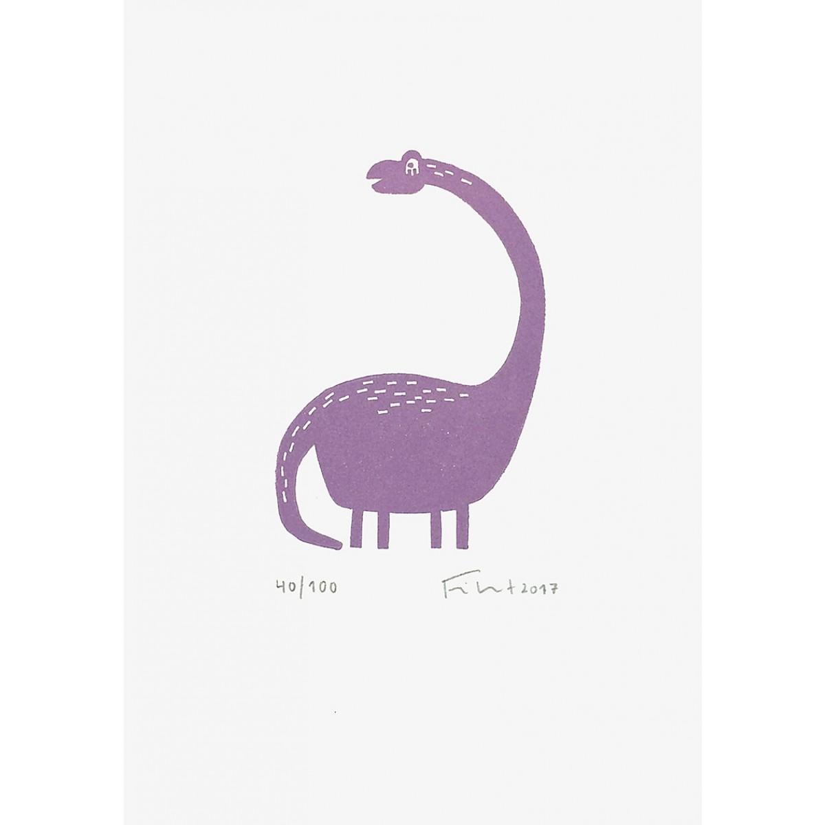 Dino | Linolschnitt